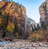 Backpacking The Narrows, Zion National Park.
