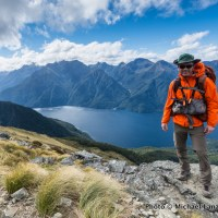 On the Kepler Track above Lake Te Anau, Fiordland National Park, New Zealand.