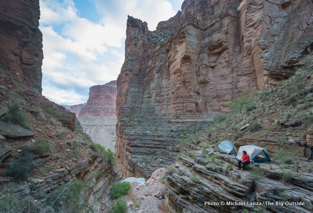 The campsite just beyond Royal Arch in the Grand Canyon.