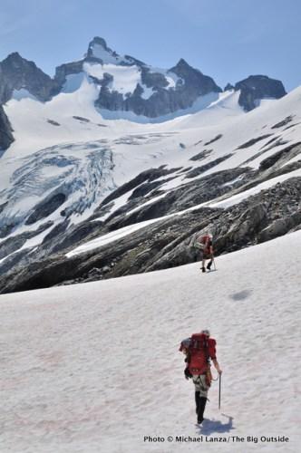 Climbers on the Ptarmigan Traverse, North Cascades, Washington.