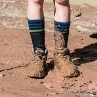 Sofi's boots after quicksand.