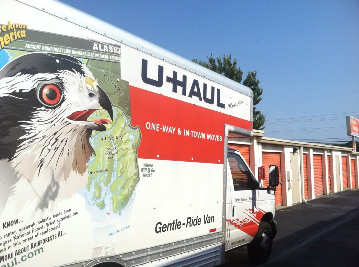 U-Haul at Storage Unit. Photo by Kristen E. Jeffers