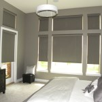 Motorized roller shades up & part way down (2)
