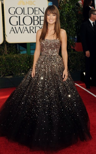 Olivia Wilde in Marchesa. 2011 Golden Globes
