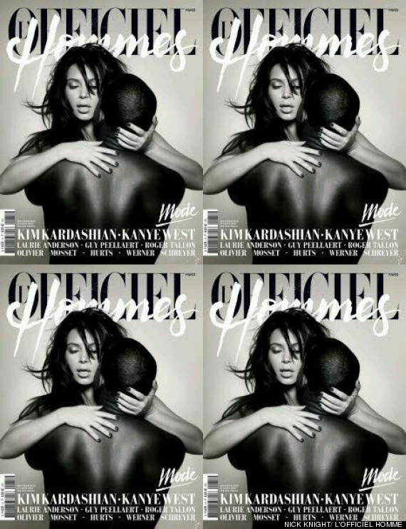 Kimye. L'Officiel Hommes cover.