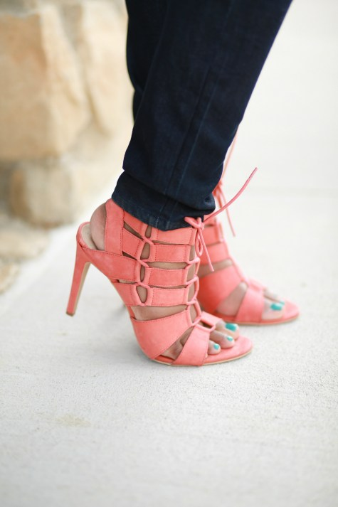 shoes, heels, steve madden, coral, lace up heels