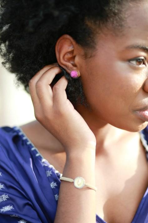 pink earrings, boho, stud earrings, colorful studs, pink studs, pink accessories