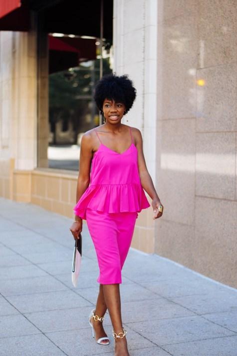 fashion week, NYFW, fashion week, pink dress, guiseppe zanotti