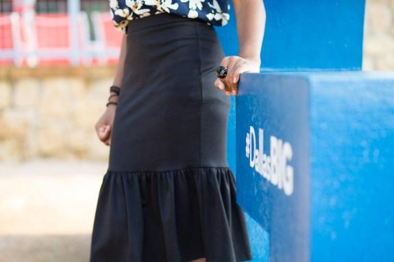 Dallas BIG, Dallas, DFW, DFW Blogger, Midi Skirt, 60s, Mod, floral shirt,