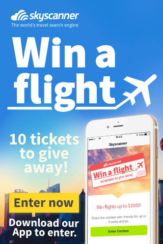 skyscanner contest free flights