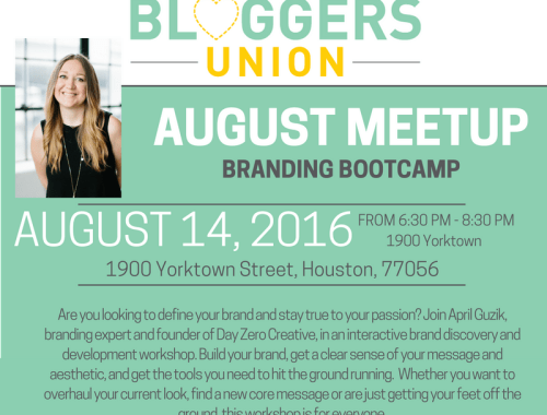 Houston Bloggers Meetup Flyers