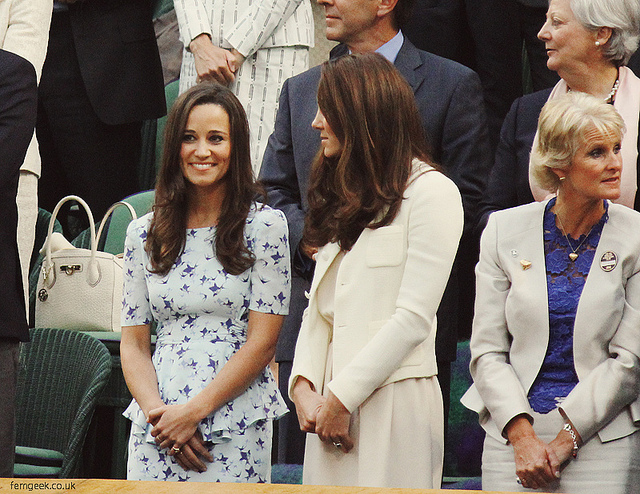 Pippa Middleton with The Duchess of Cambridge
