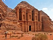 The Ad-Deir Monastery, high above the site of Petra.