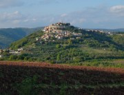 The hilltop city of Motovun