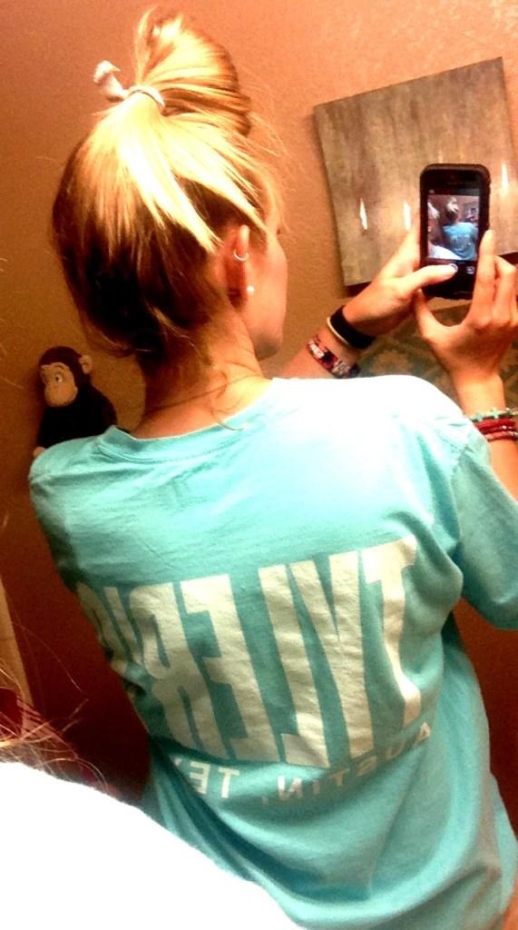 tyler's tshirt blue
