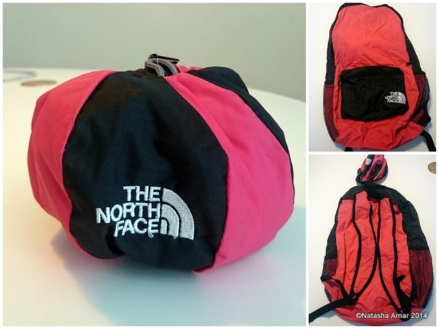 My Day Pack that rolls up into this cool ball- Tips to travel smarter