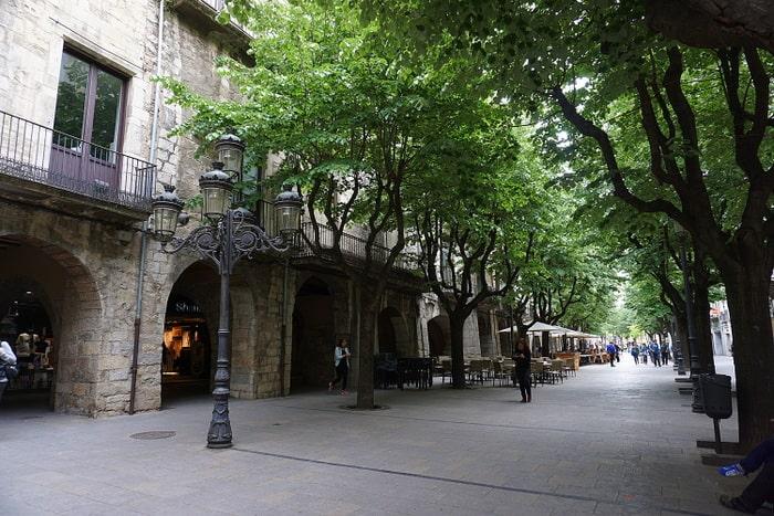 Girona medieval town