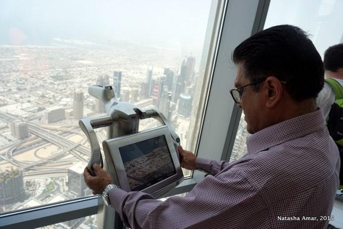 Taking a closer look at the top burj khalifa