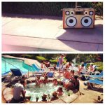 coachella 2012 pool party boomcase stereo boombox sexy