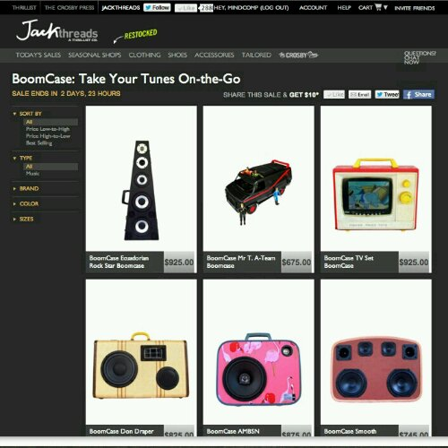 jackthreads.com sale boomcase
