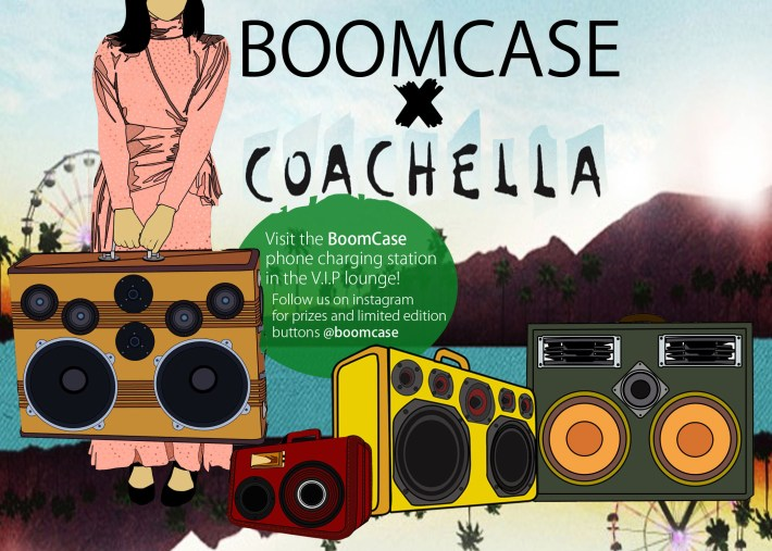 coachella girl ladies boomcase station VIP Party Campground 2013