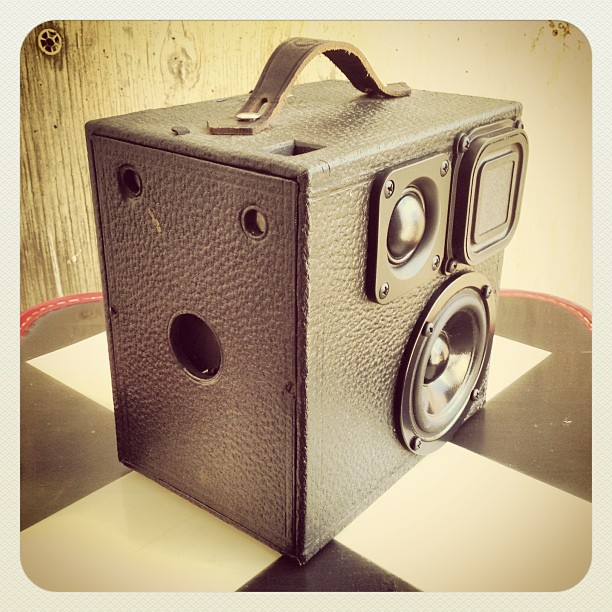 vintage cub camera BoomCase boombox speaker bass thump retro photography photo