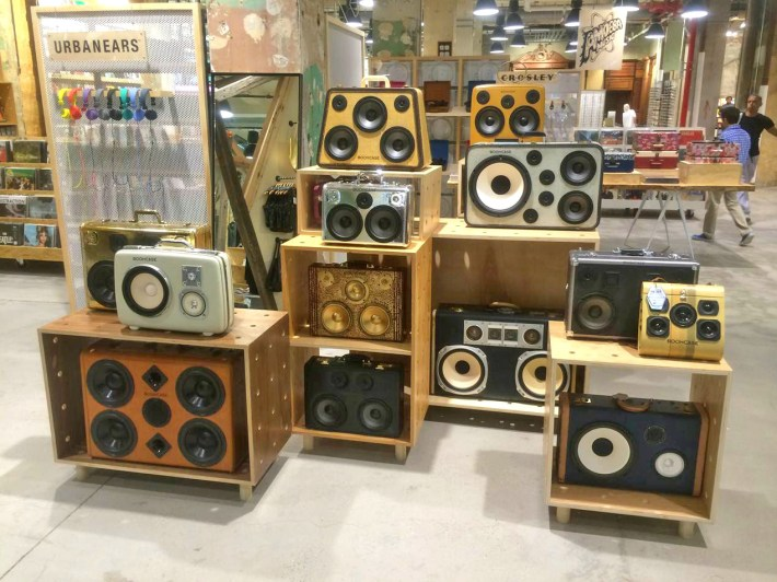 urban outfitters herald square boomcase NYC NY new york urban boombox bluetooth speakers