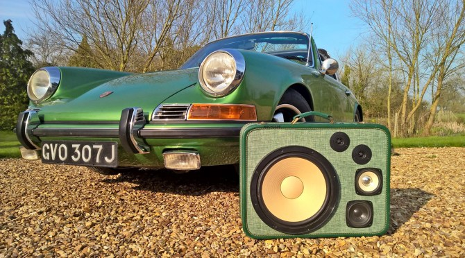 Porsche Targa BoomCase Classic Sound System BoomBox UK Vintage Sports Car
