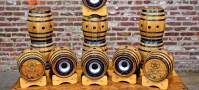Beer Speaker Barrel BoomCase Starr Hill Brewery Bluetooth Wine Barrel