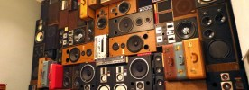 Speaker Wall Vintage Speakers Wall of Boom of Sound Nashville Music City BoomCase BoomBox Retro