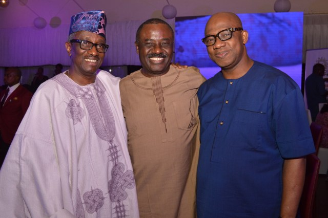 Chief Funlola Okunowo, Sir Kehinde Smith with Dapo Abiodun