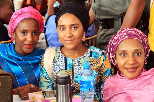 Halimat , Zainab & Fatimah Dangote