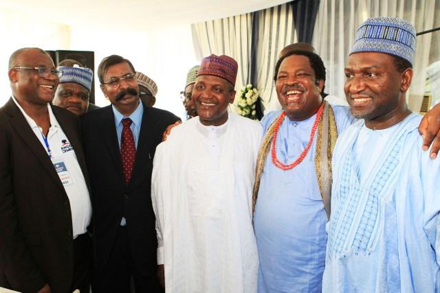 (R-L) Alh. Sani Dangote ,Prince. Nduka Obaigbena , Alh.   Aliko Dangote & Mr. Devakumar Edwin