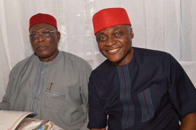 Sir Richard Ibe with Dr. Ken Ikpe