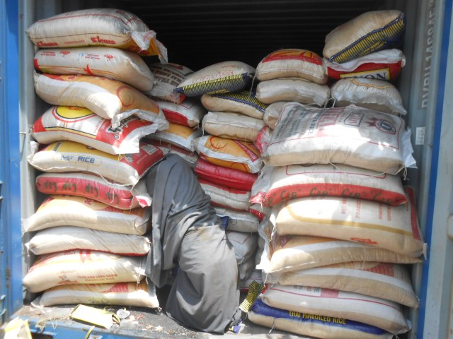 Seized trailer load of rice