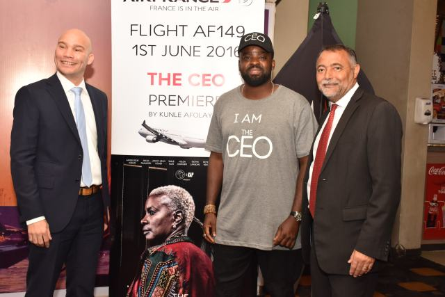 Air France Commercial Director, Arthur Dieffenthaler, Actor,MD/CEO, Golden Effect, Kunle Afolayan & General Manager of Air France, Jean-Raoul Tauzin