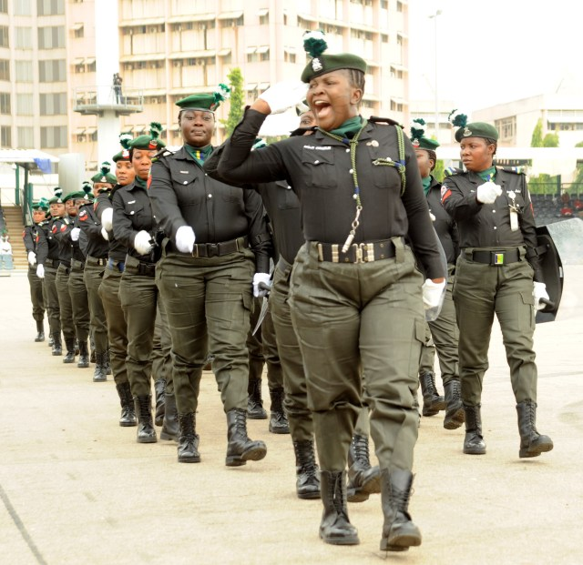 PIC.6. POLICE WOMEN ON PARADE DURING THE 2016 POLICE WEEK GRAND   FINALE PARADE IN ABUJA ON FRIDAY (1/4/16).  2666/1/4/2016/HF/ICE/CH/NAN