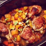 Chicken, pumpkin with soy & star anise