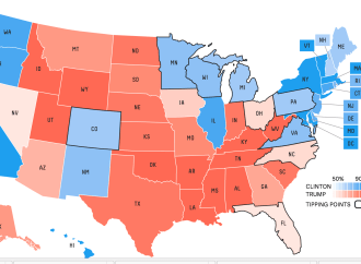 Maryland Now the Bluest of Blue States, Alabama the Reddest of the Red States