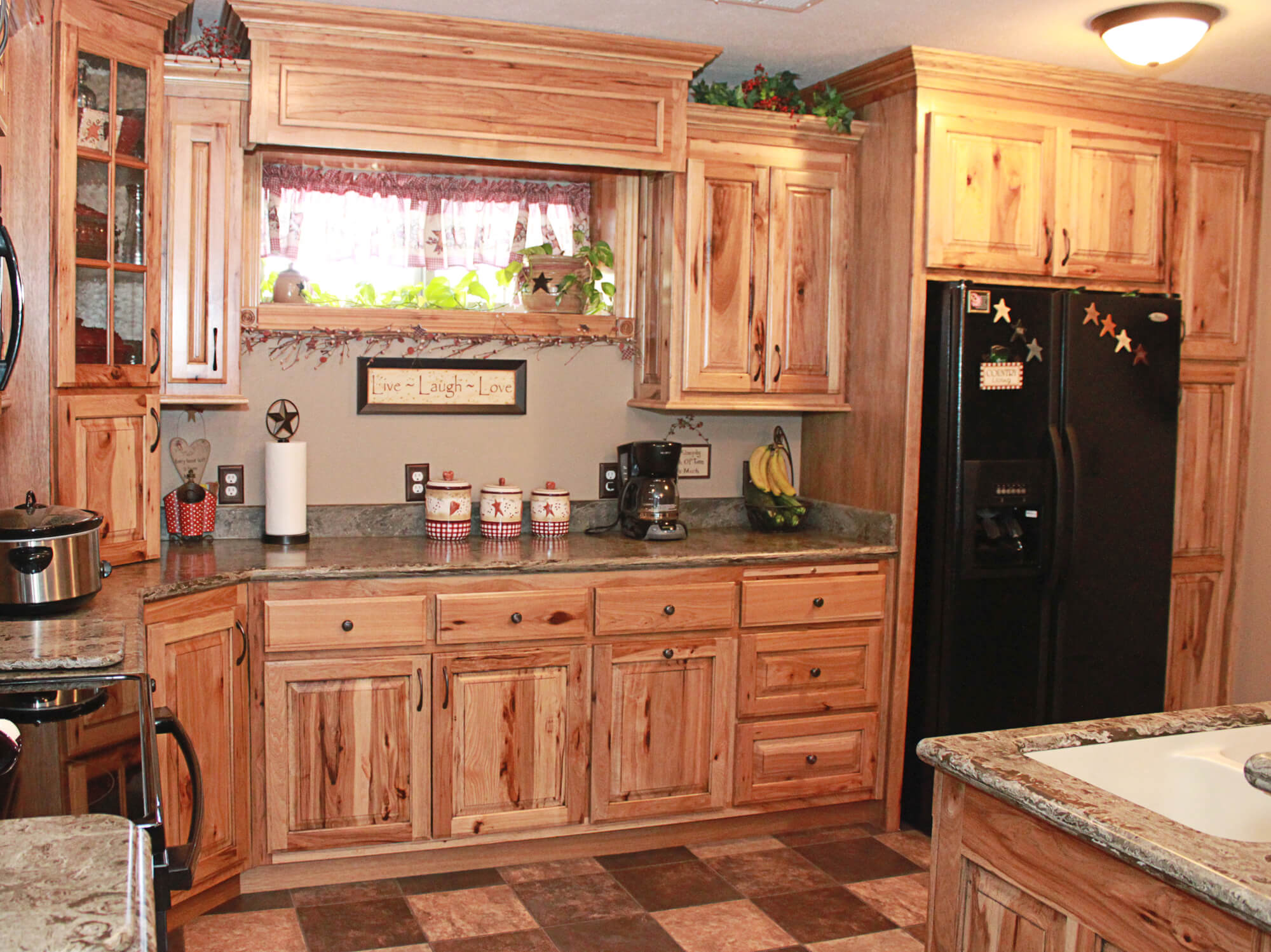 rustic hickory kitchen cabinets hickory kitchen cabinets Rustic Hickory Kitchen Cabinets