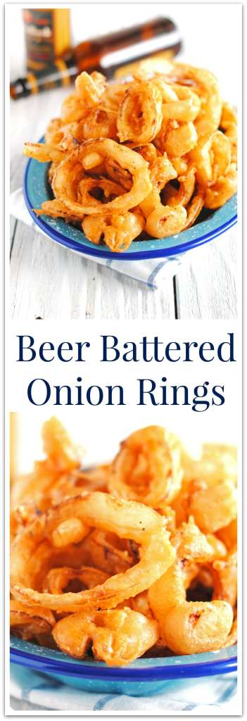 Beer Battered Onion Rings | The Cake Chica