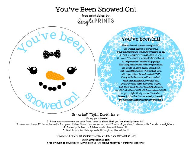 You've Been Snowed on Free Prints Girl Snowman