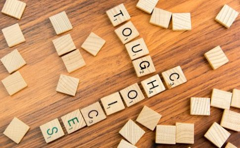 tough choices in scrabble letters
