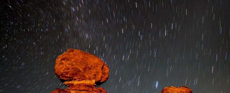 Stars Over Balanced Rock, Arches National Park