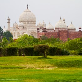Alongside The Taj Mahal, Agra, India