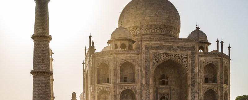 Sun Through The Minaret, Taj Mahal, India