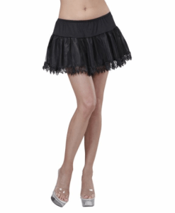 BLACK TEARDROP LACE PETTICOAT