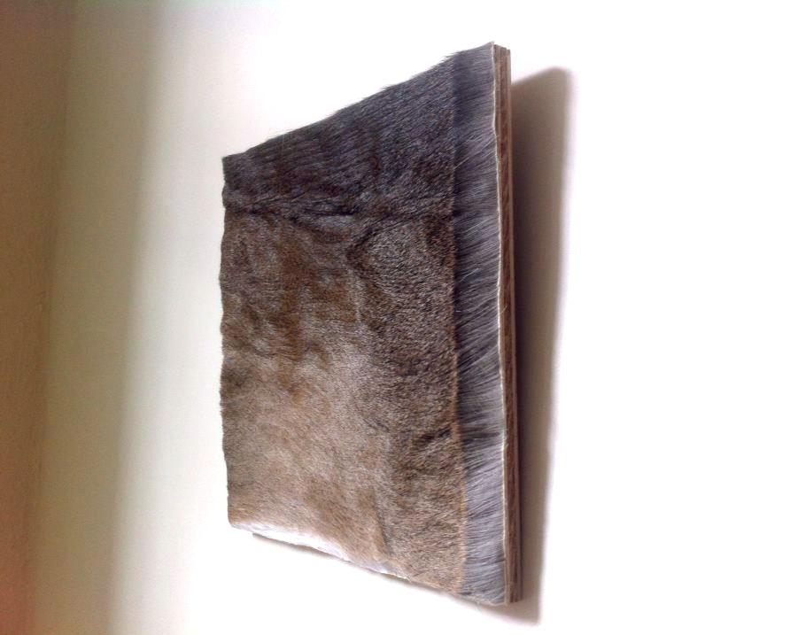 Laura Ginn - Graham - North Carolina - deer hide on plywood backing: 2013 75.00