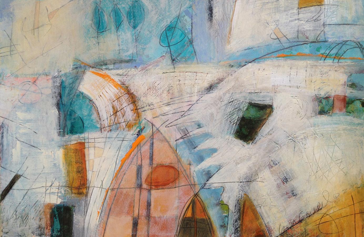 Lisa Creed - Take Five - Acrylic/graphite on panel: 2011 700.00