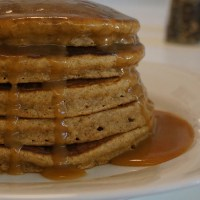 Whole wheat oatmeal banana pancakes!